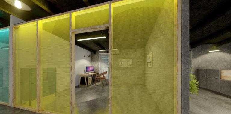 Büroraum im Gründerquartier Remscheid